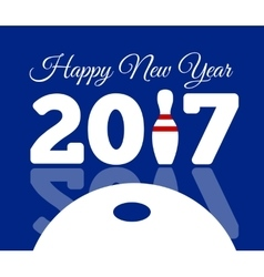 Congratulations to happy new 2017 year with a vector