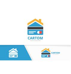 Credit card and real estate logo vector