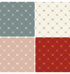 Crowns seamless pattern vector