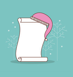 dear santa letter hat of santa with space for text vector image