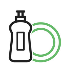Dishwashing soap vector