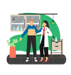 doctor therapist physician examining patient vector image