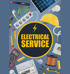 Electrical service tools and equipment vector
