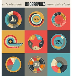 Elements and icons of infographics vector image