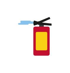 Extinguisher fire isolated icon vector