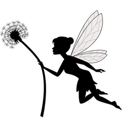 fairy holding dandelion vector image