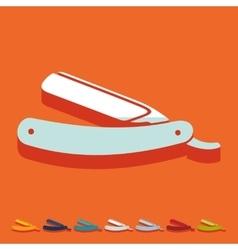 Flat design razor vector image
