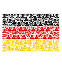 Germany flag mosaic of devil icons vector