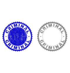 Grunge criminal scratched stamp seals vector