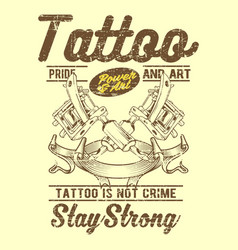 grunge style vintage tattoo is not crime hand vector image