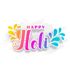 Happy holi traditional indian festival wishes vector