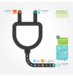 infographics eco energy concept design diagram vector image
