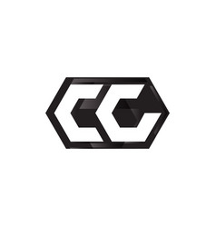 initial letter c with hexagon shape vector image