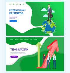 international business partnership and network vector image