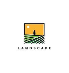 landscape logo inspiration template vector image