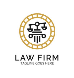 law firm logo design inspiration vector image