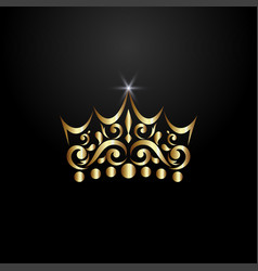 Luxury crown logo vector