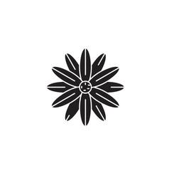 magnolia black concept icon magnolia flat vector image