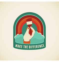 make the difference vector image