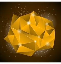 Orange Polygonal Stone vector image