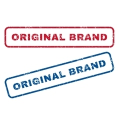 Original Brand Rubber Stamps vector