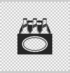 pack of beer bottles icon isolated vector image