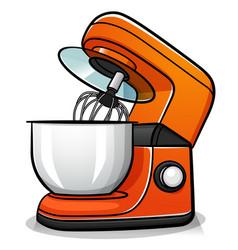 Pastry robot cartoon vector