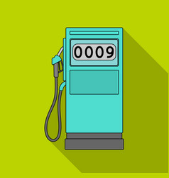 Petrol filling stationoil single icon in flat vector