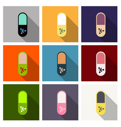 Pill medical capsule isometric vector