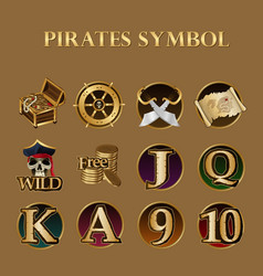 pirates symbol set vector image