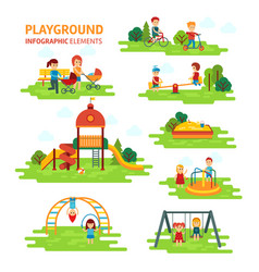 playground infographic elements flat vector image
