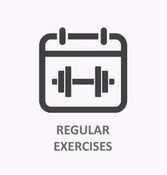 Regular exercise icon on white background vector