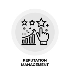 Reputation Management Line Icon vector image