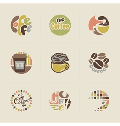 Retro coffee emblems vector image
