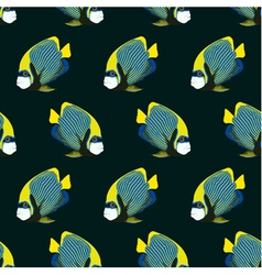Seamless pattern from swimming fishes vector