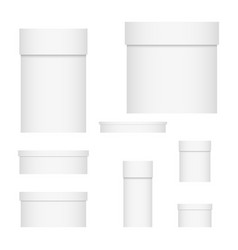 set of packaging boxes vector image