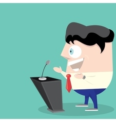 Speaker icon Orator speaking from tribune vector image