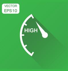 Speedometer tachometer fuel high level icon vector