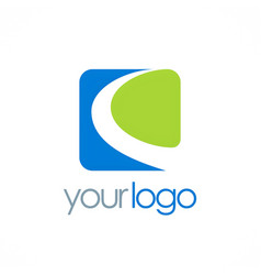 square loop business logo vector image