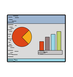 Statistic bars presentation business in the vector