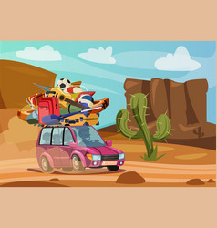 summer vacation journey flat vector image