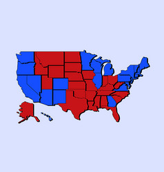 us state map presidential election 2020 final vector image