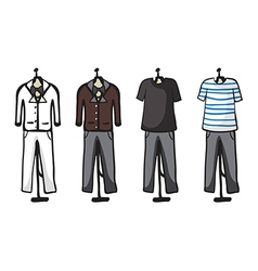Various garments of male vector