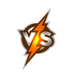 versus symbol vector image