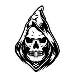 vintage concept grim reaper head vector image