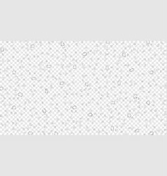 Water rain drops on transparent background vector