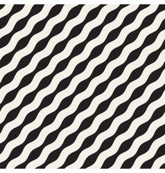 Wavy Ripple Lines Seamless Black and White vector image