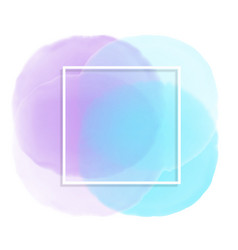 White frame on pastel watercolour background vector