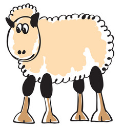 white sheep vector image