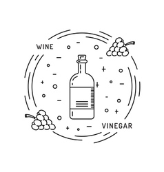 wine vinegar sauce vector image